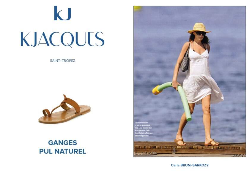 Carla Bruni-Sarkozy porte le modèle Ganges de K.Jacques.