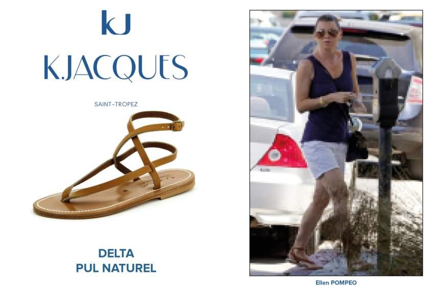 Ellen Pompeo porte le modèle Delta de K.Jacques.