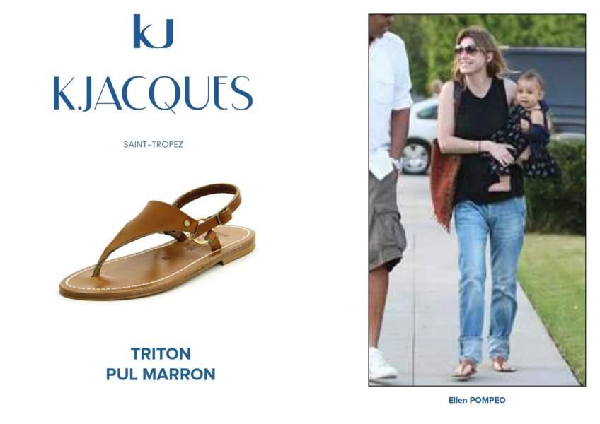 Ellen Pompeo porte le modèle Triton de K.Jacques.