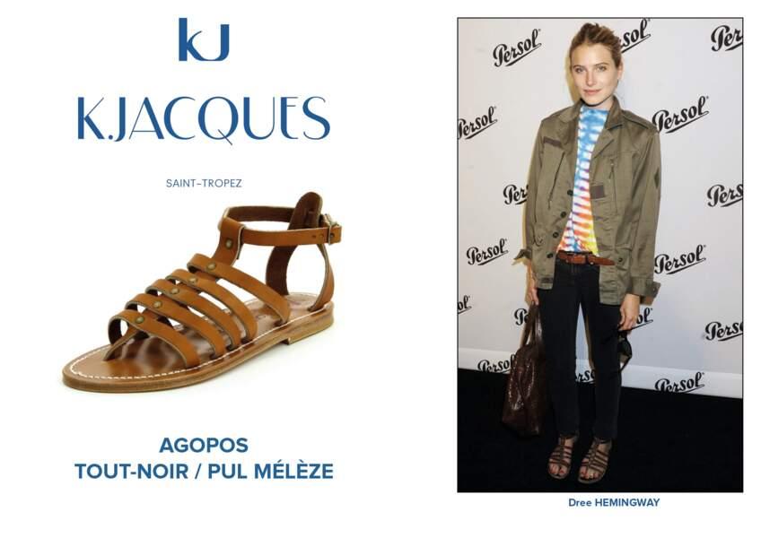 Dree Hemingway porte le modèle Agopos de K.Jacques.