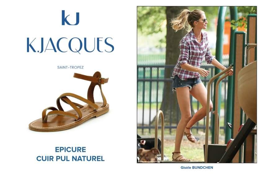 Gisèle Bundchen porte le modèle Epicure de K.Jacques.