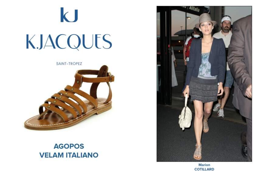Marion Cotillard porte le modèle Agopos de K.Jacques.