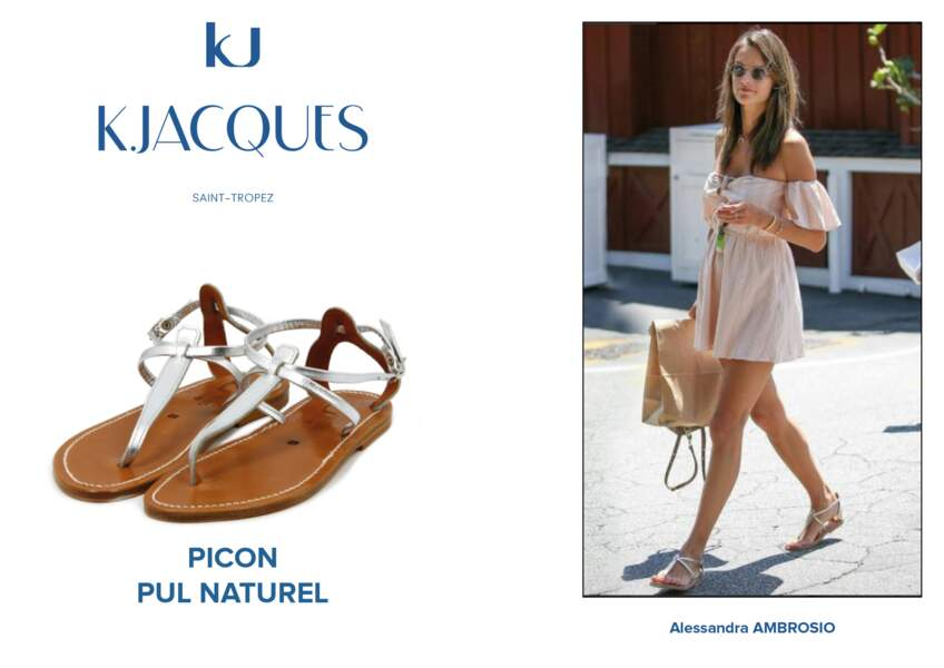 Alessandra Ambrosio porte le modèle Picon de K.Jacques.