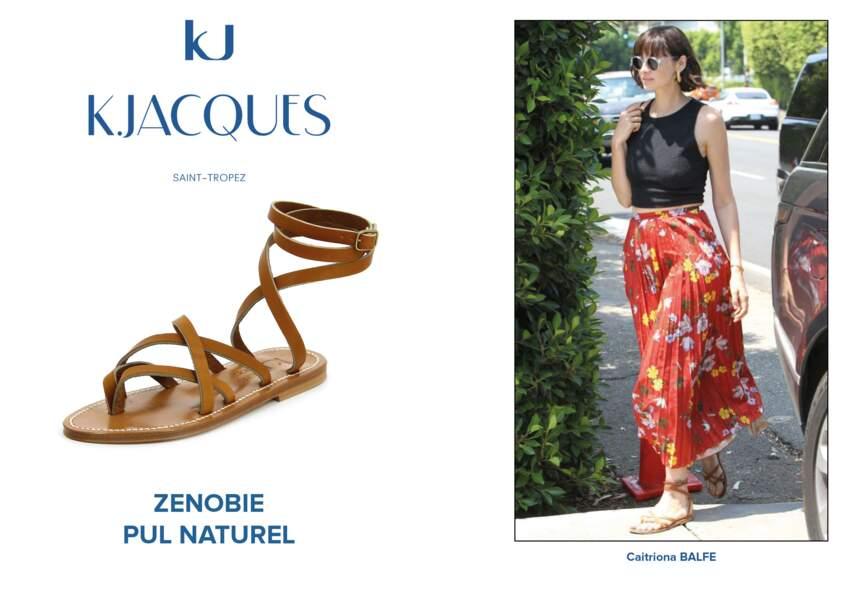 Caitriona Balfe porte le modèle Zenobie de K.Jacques.