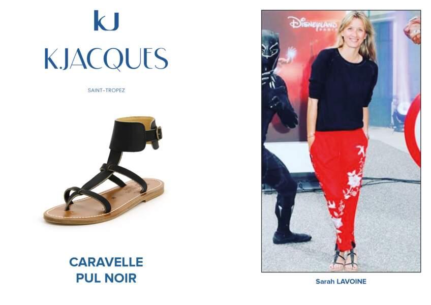 Sarah Lavoine porte le modèle Caravelle de K.Jacques.