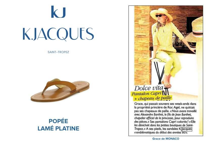 Grace de Monaco portait le modèle Popée de K.Jacques.
