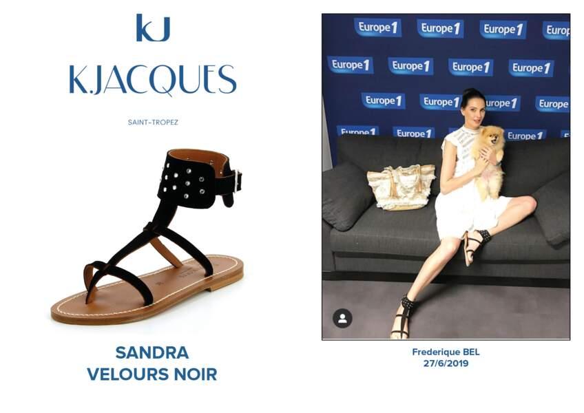 Frédérique Bel porte le modèle Sandra de K.Jacques.