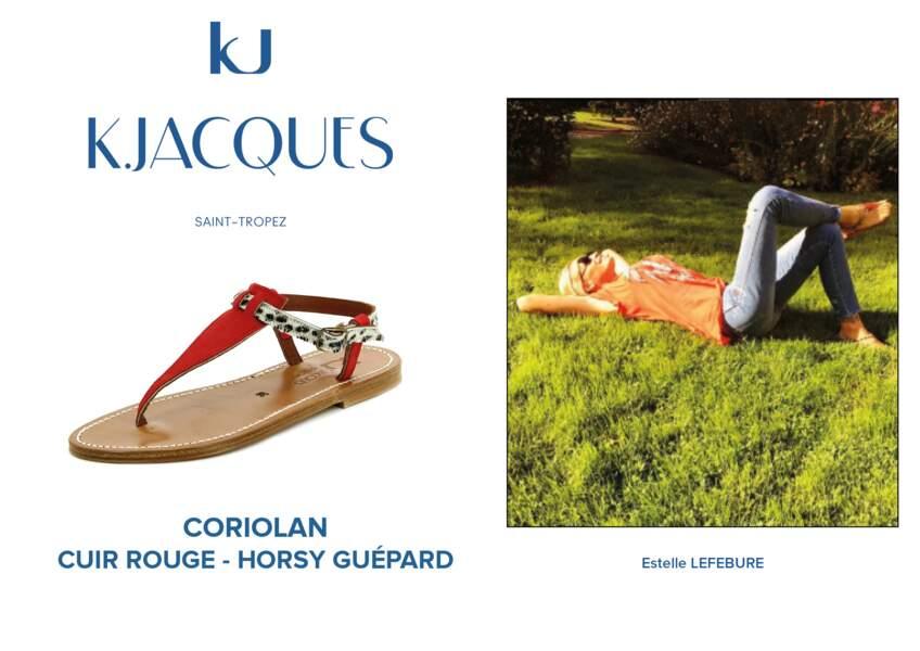 Estelle Lefebure porte le modèle Coriolan de K.Jacques.