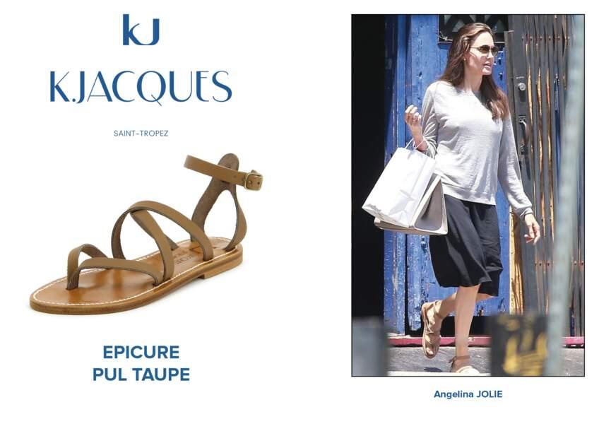 Angelina Jolie porte le modèle Epicure de K.Jacques.