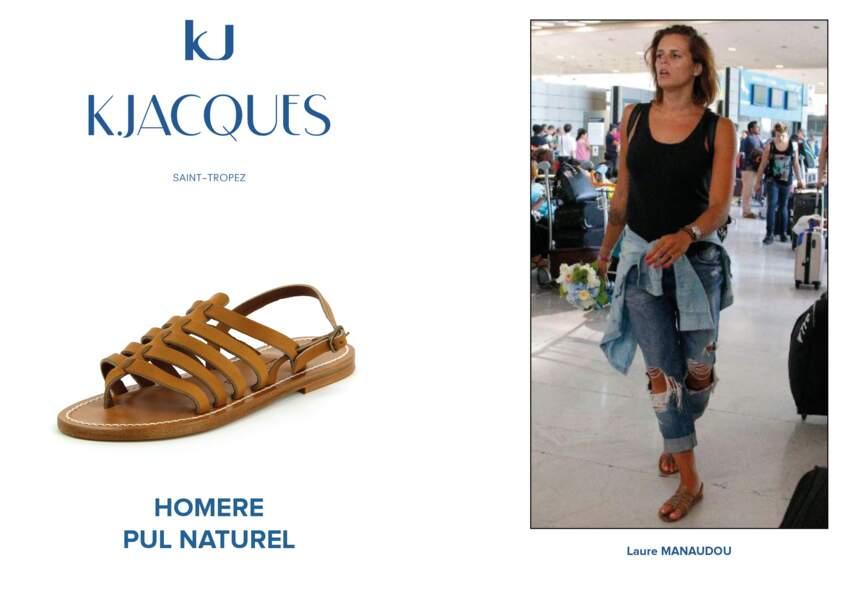 Laure Manaudou porte le modèle Homère de K.Jacques.