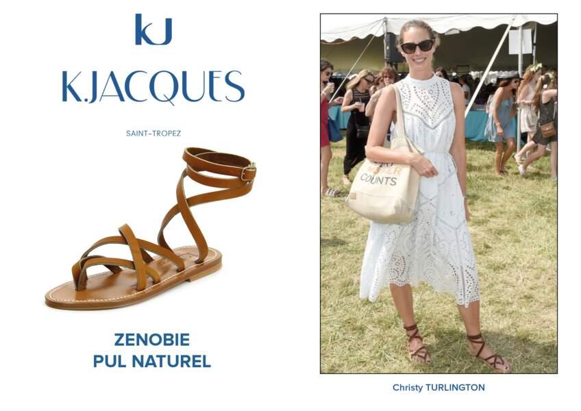 Christy Turlington porte le modèle Zenobie de K.Jacques.