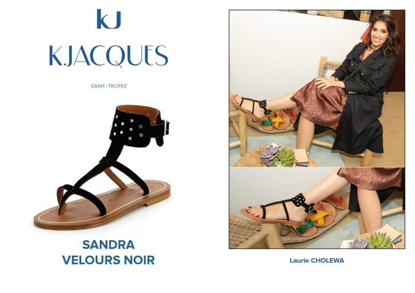 Laurie Cholewa porte le modèle Sandra de K.Jacques.