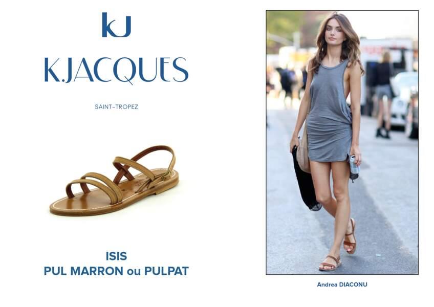 Andréa Diaconu porte le modèle Isis de K.Jacques.