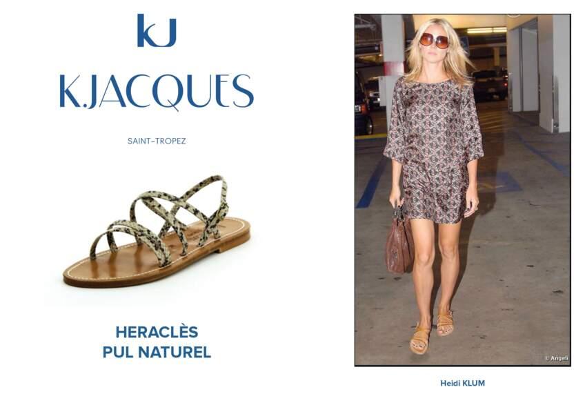 Heidi Klum porte le modèle Heraclès de K.Jacques.