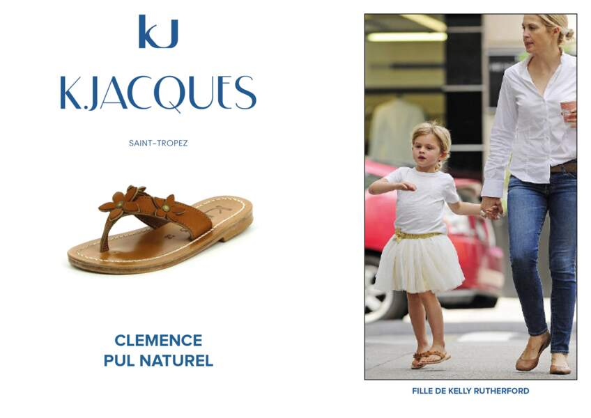 La fille de Kelly Rutherford porte le modèle Clémence pour enfant de K.Jacques.