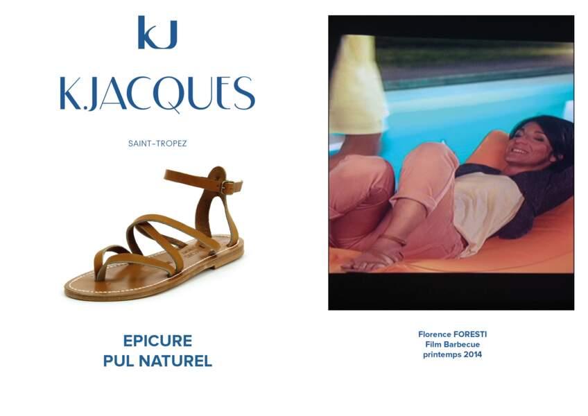 Florence Foresti porte le modèle Epicure de K.Jacques dans le film Barbecue en 2014.