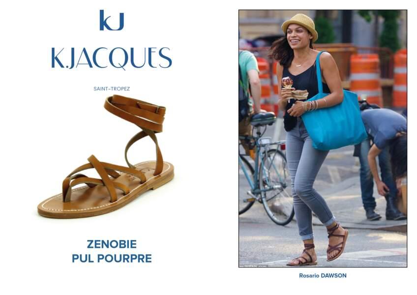 Rosario Dawson porte le modèle Zenobie de K.Jacques.