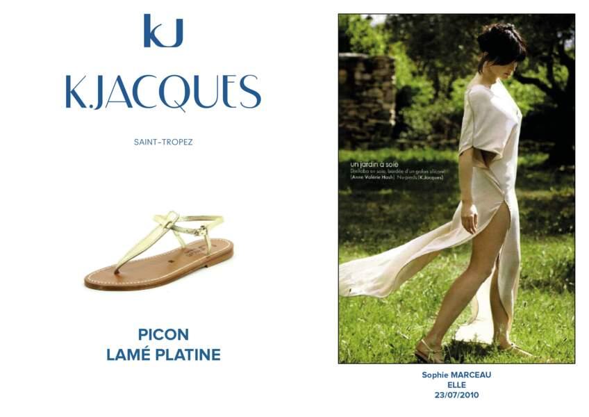 Sophie Marceau porte dans le ELLE du 23/07/2010 le modèle Picon de K.Jacques.