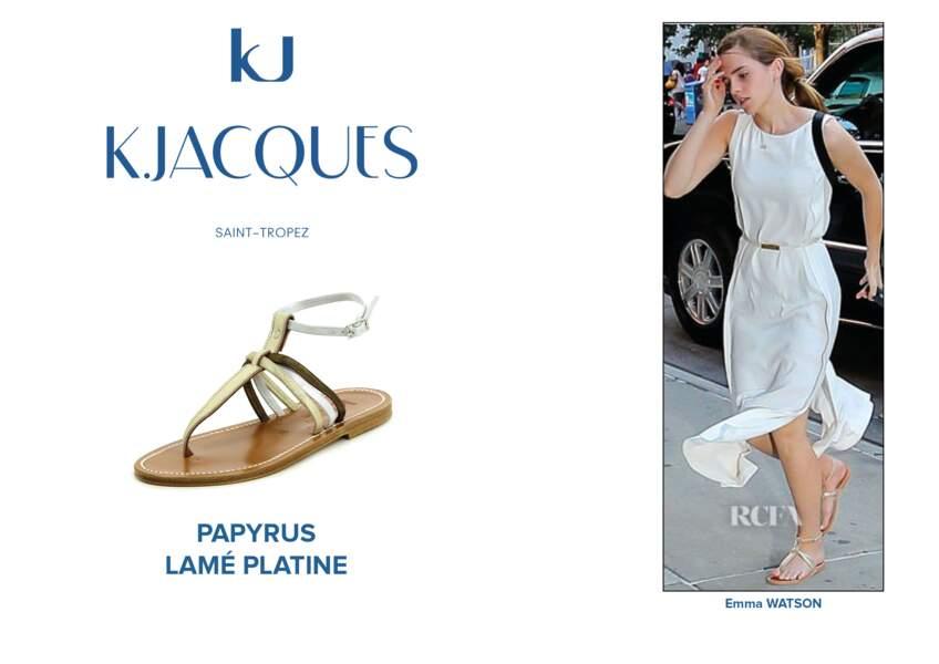 Emma Watson porte le modèle Papyrus de K.Jacques.