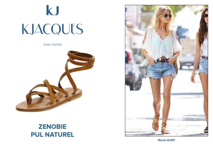 Marta Hunt porte le modèle Zenobie de K.Jacques.