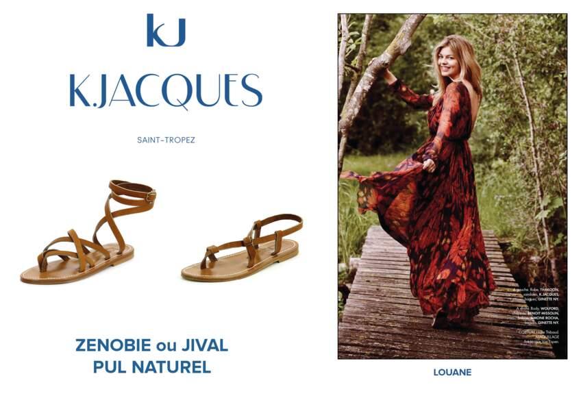 Louane porte des sandales K.Jacques.
