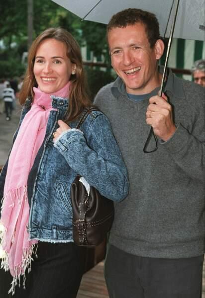 Judith Godreche et Dany Boon à Roland Garros, le 2 juin 2001.
