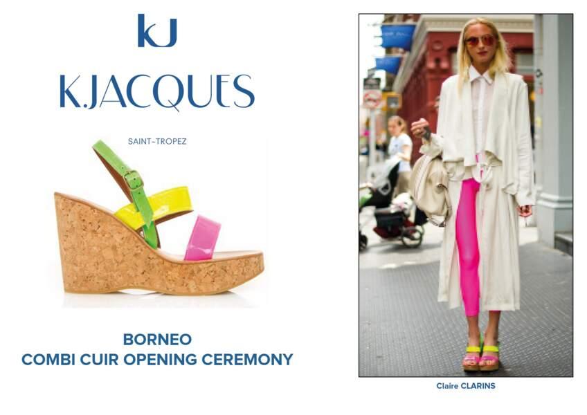 Claire Clarins porte le modèle Borneo de K.Jacques.