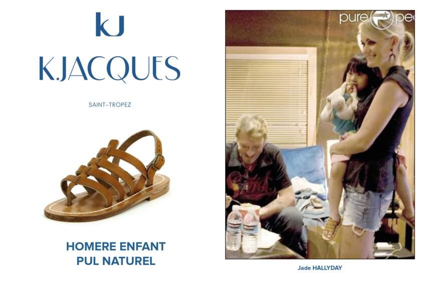 Jade Hallyday porte le modèle Homère pour enfant de K.Jacques.