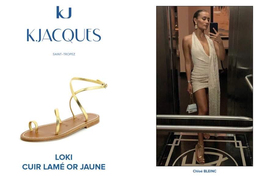 Chloé Bleinc porte le modèle Loki de K.Jacques.