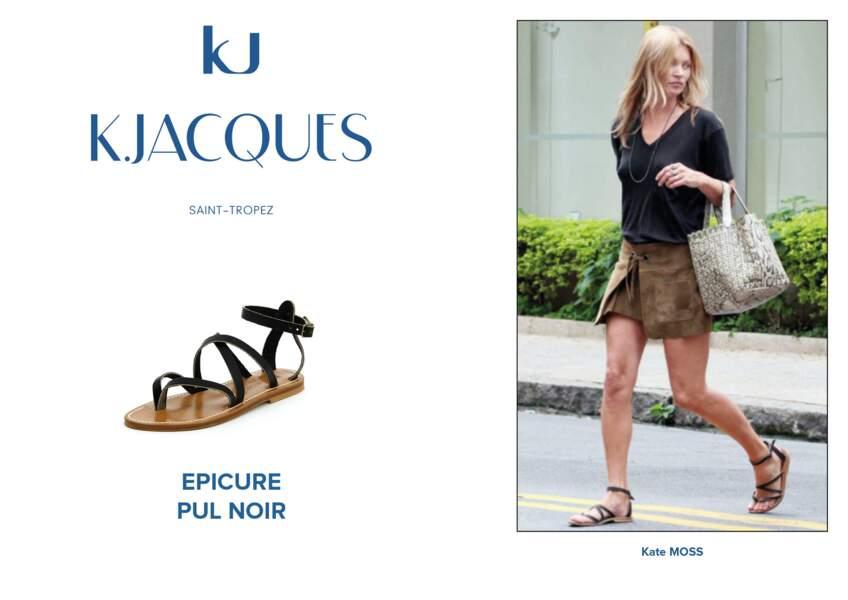 Kate Moss porte le modèle Epicure de K.Jacques.