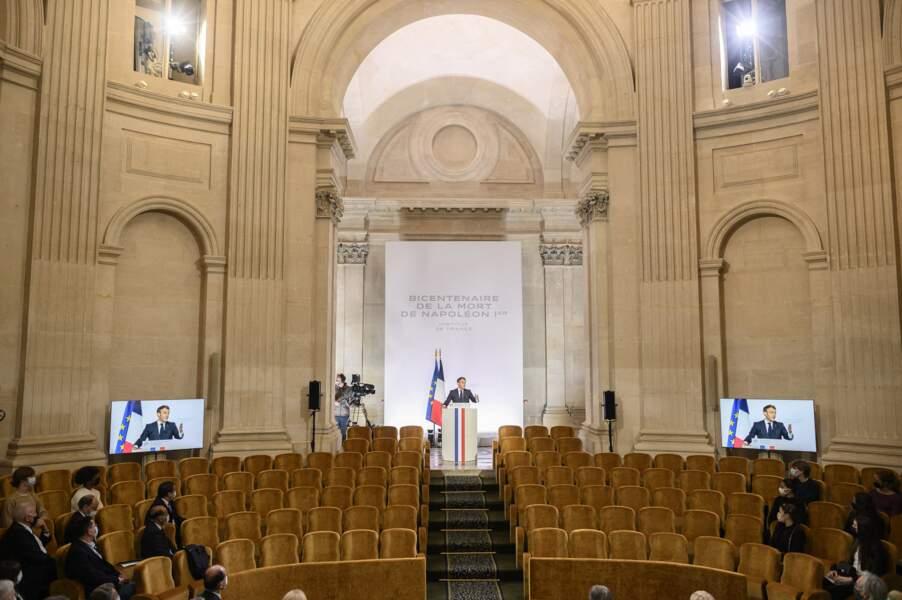 Emmanuel Macron à la commémoration du bicentenaire de la mort de Napoléon ce mercredi 5 mai à Paris