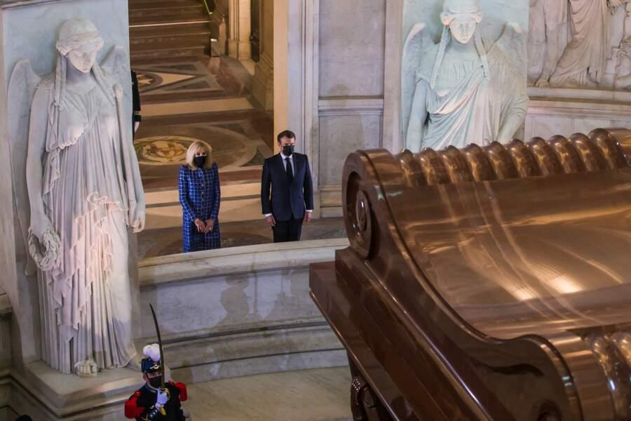 Emmanuel et Brigitte Macron à Paris ce 5 mai 2021