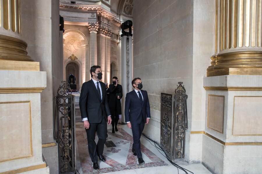 Emmanuel Macron et le prince Jean-Christophe Napoléon le 5 mai 2021 à Paris