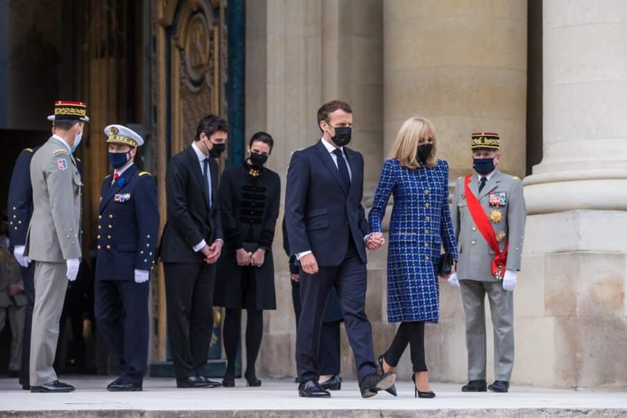 Emmanuel Macron et Brigitte Macron ce mercredi 5 mai à Paris
