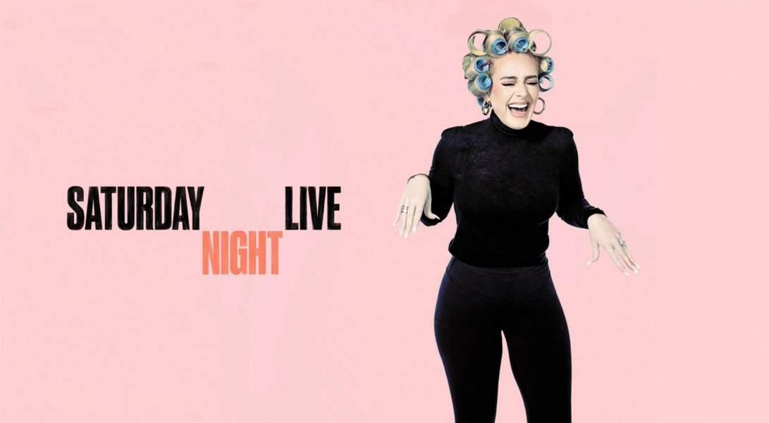 Fière de sa nouvelle silhouette, la chanteuse Adele était la star de l'émission Saturday Night Live à Los Angeles, le 24 octobre 2020