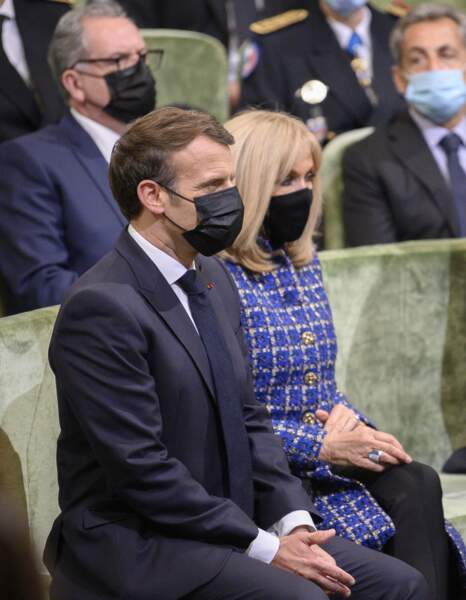 Emmanuel et Brigitte Macron ensemble lors de la commémoration du bicentenaire de la mort de Napoléon ce mercredi 5 mai à Paris
