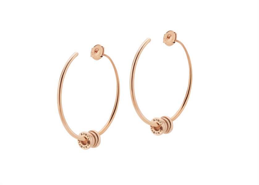 Boucles d'oreilles créoles B.zero1 en or rose, 3.240€, Bvlgari