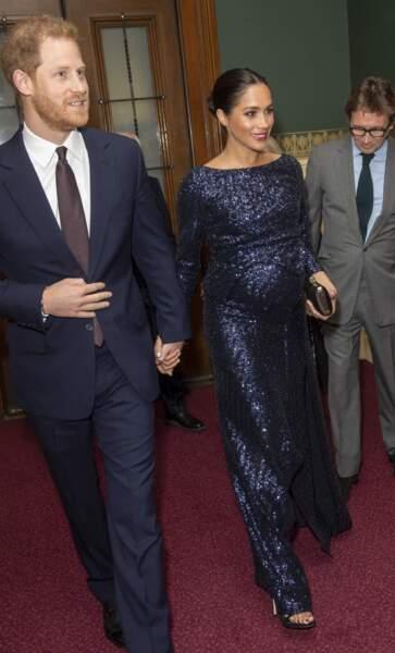 16 janvier 2019 : Harry et Meghan assistent au spectacle du Cirque du Soleil à Londres