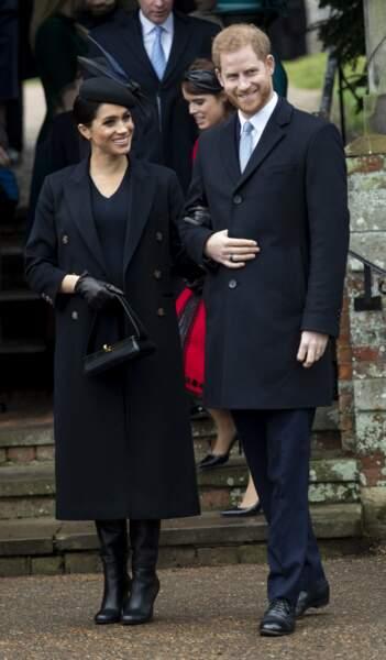 25 décembre 2018 : Meghan et Harry fêtent Noël à Sandringham