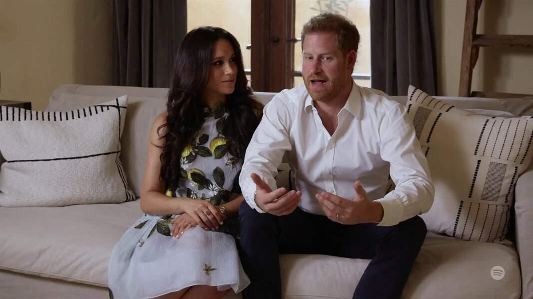 22 février 2021 : Meghan et Harry apparaissent dans une vidéo promotionnelle pour leur série de podcasts