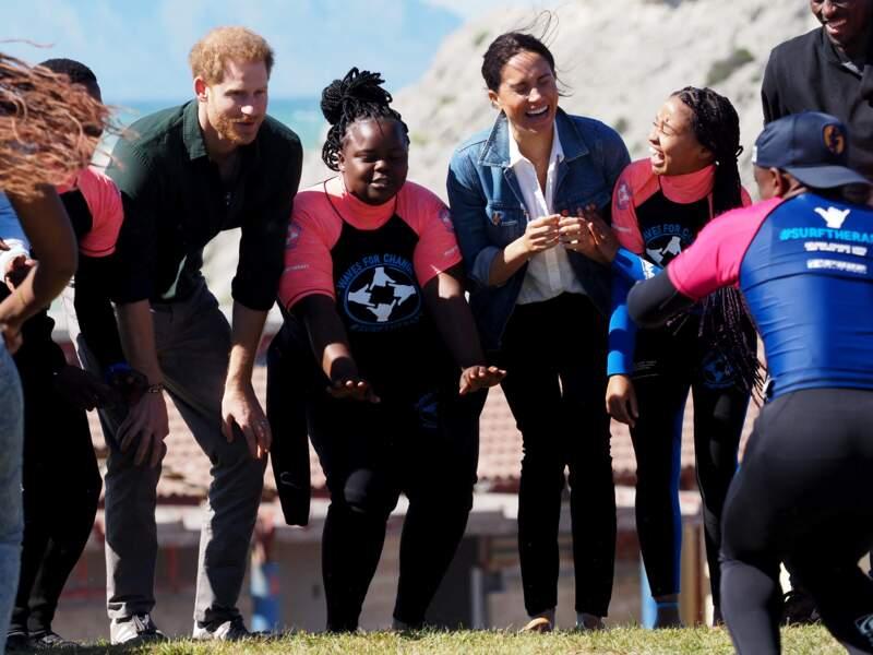 24 septembre 2019 : Harry et Meghan, tout sourires à Cape Town