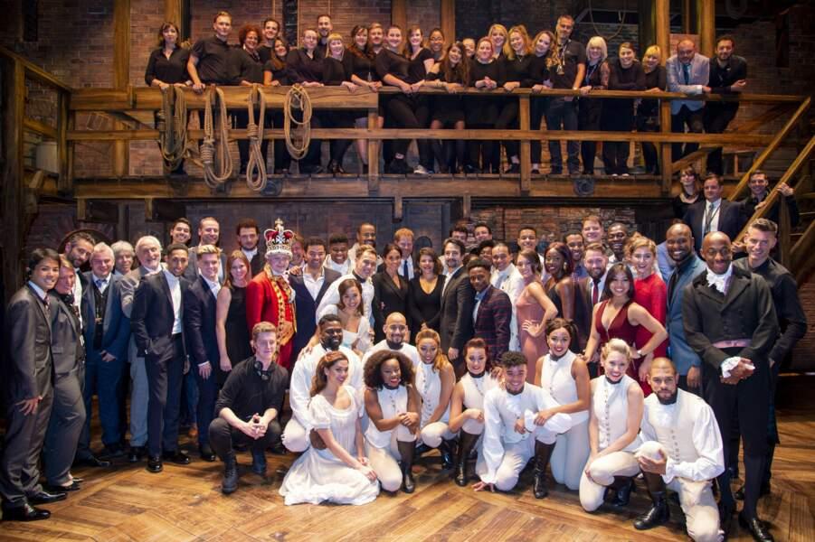 """29 aout 2018 : Harry et Meghan rencontrent la troupe du musical """"Hamilton"""""""