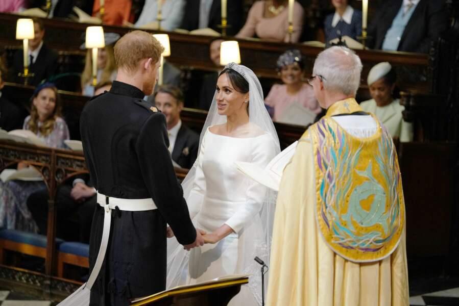 19 mai 2018 : l'échange des voeux entre le prince Harry et Meghan Markle