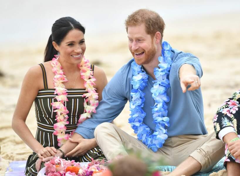 19 octobre 2018 : Meghan et Harry visitent la plage de Bondi Beach à Sydney