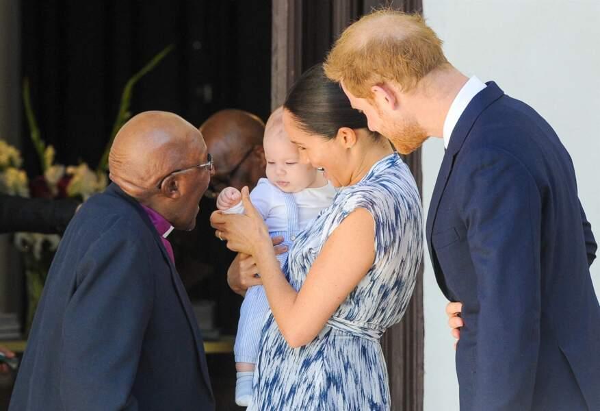 25 septembre 2019 : Meghan et Harry présentent Archie à Desmond Tutu