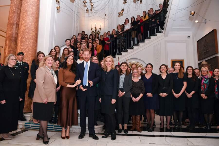 7 janvier 2020 : Harry et Meghan de retour à la Canada House de Londres