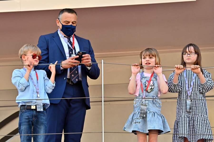 La princesse Gabriella de Monaco, Kaia Rose Wittstock et le prince Jacques bien surveillés