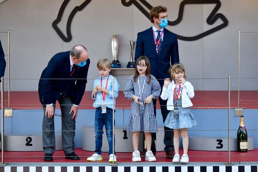 La famille de Monaco sur le podium du E-Prix de Monaco 2021