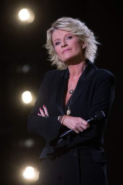 """Sophie Davant lors de l'enregistrement de l'émission """"La Lettre"""", en octobre 2020"""