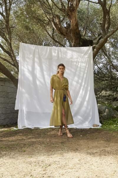 Robe longue à volants 100% voile coton doublé Garance, 258€, Mare Di Latte